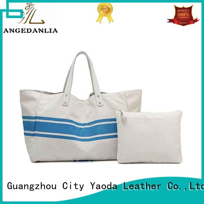 customized canvas shoulder tote bag online for lady ANGEDANLIA