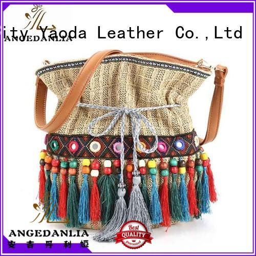 Women's shoulder bags Hippie ethnic Style Ladies Boho Bucket Bag