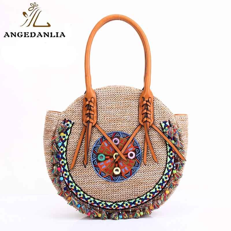 Summer lady pp straw bag beach handbags