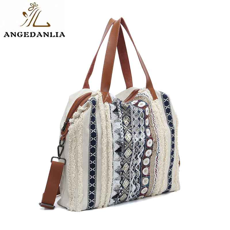 ANGEDANLIA shopping canvas drawstring bags on sale for daily life-1