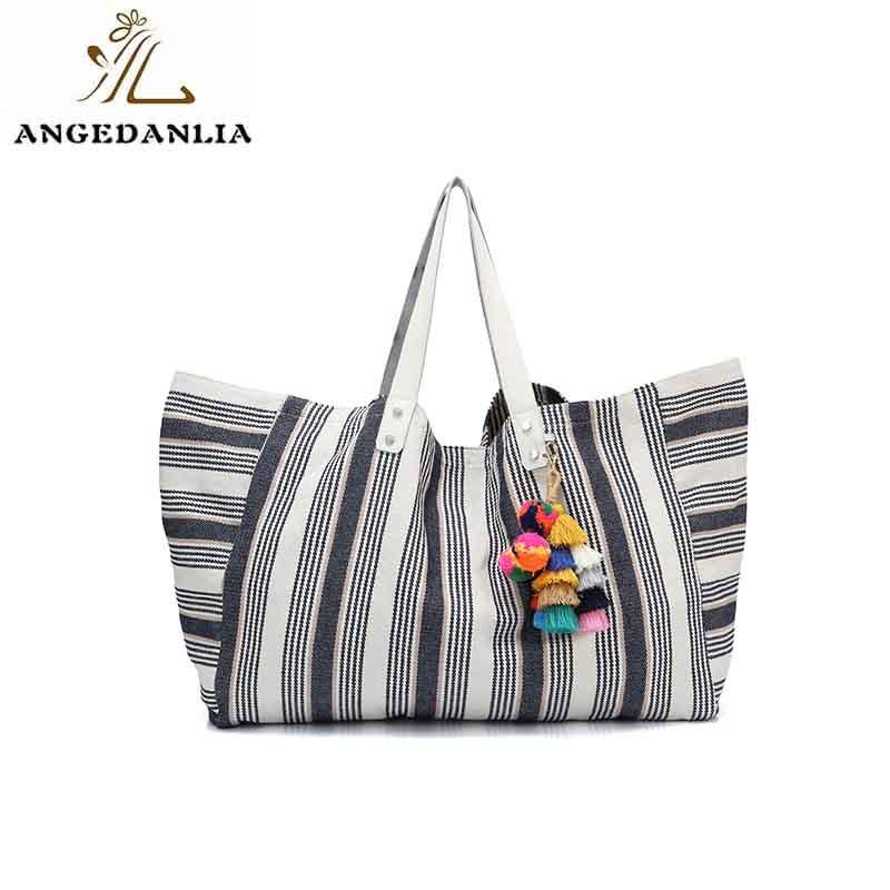 Guangzhou canvas pu leather womens tote shoulder handbag