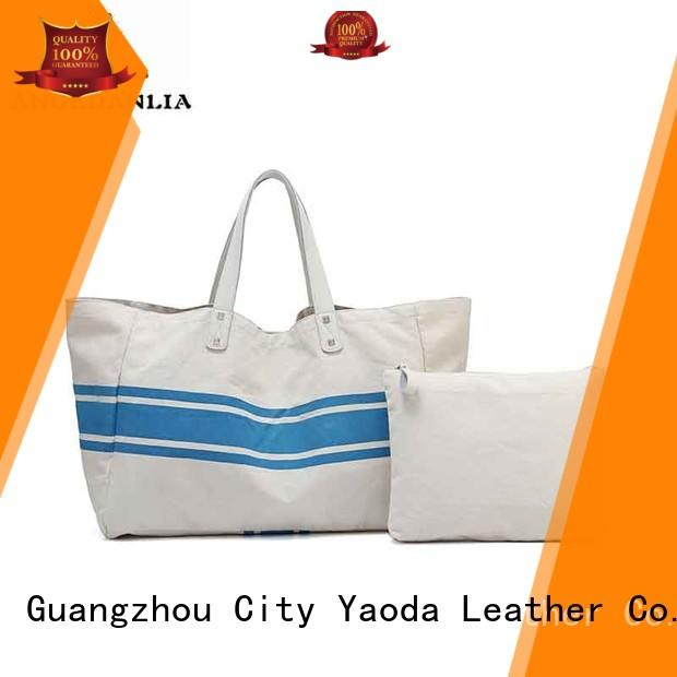ANGEDANLIA casual canvas tote bags with zipper online for lady
