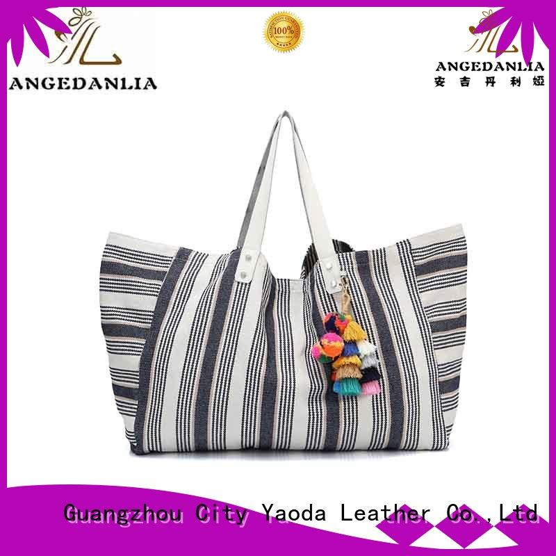 ANGEDANLIA shopping canvas tote bags with zipper online for daily life