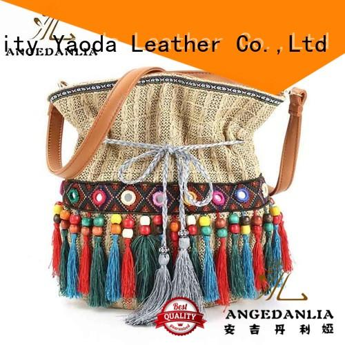 colorful bohemian leather handbags laser Large capacity for lady