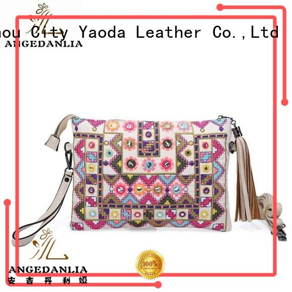 Bohemian envelope style ethnic handmade embroidery clutch purses bag