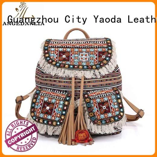 boho women clutch embroidery bohemian tote bag ANGEDANLIA Brand