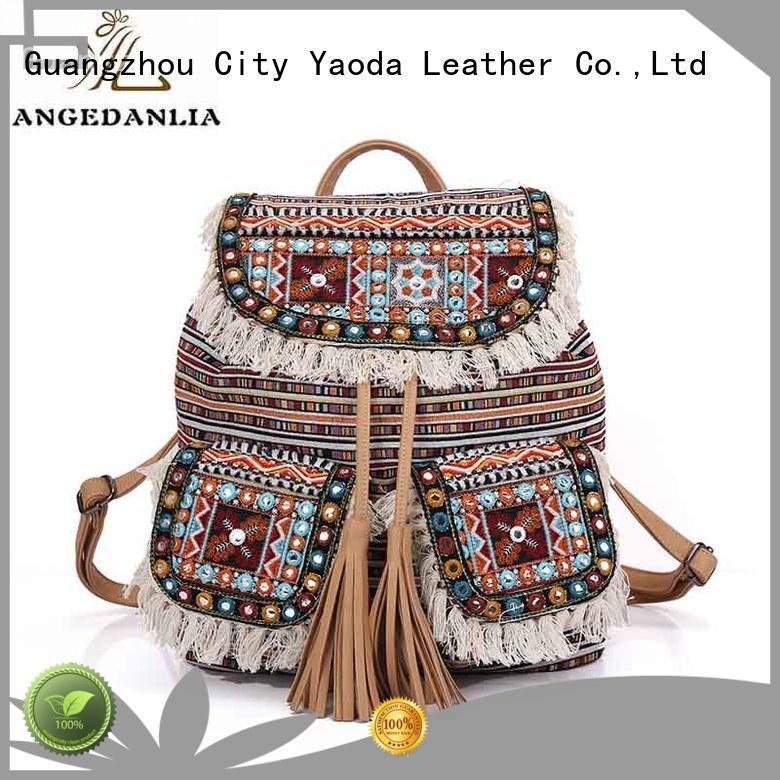 stylish bohemian tote bag Large capacity for women ANGEDANLIA