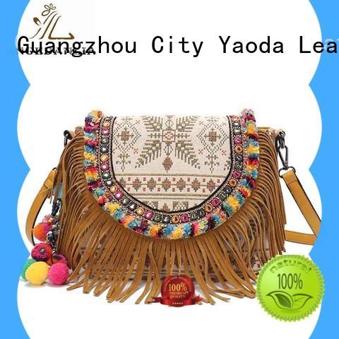 ANGEDANLIA handcraft boho crossbody bag Large capacity for travel