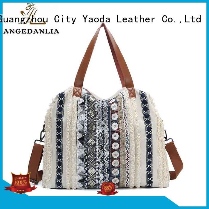 ANGEDANLIA popular canvas bag printing online for lady