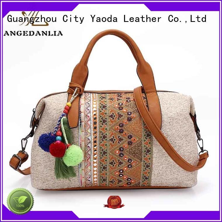ANGEDANLIA handcraft bohemian travel bag supplier for travel