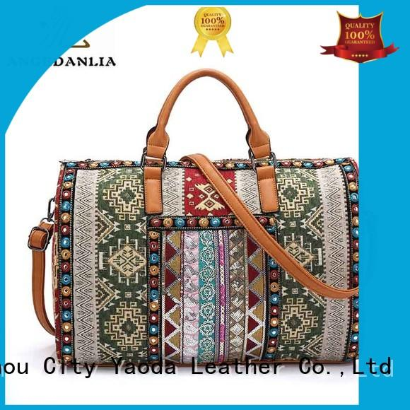 colorful boho chic bags wholesale for travel ANGEDANLIA