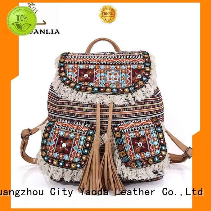 ANGEDANLIA ladies boho shoulder bag Large capacity for lady
