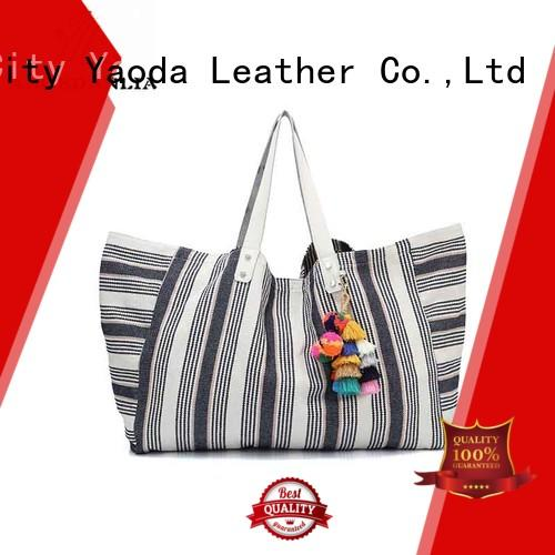 casual leisure canvas tote bags pu ANGEDANLIA Brand