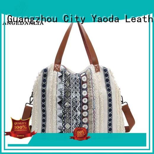 Quality ANGEDANLIA Brand canvas bag design real bag