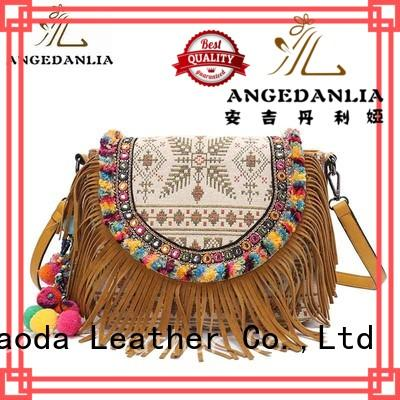 ANGEDANLIA colorful bohemian hippie bags supplier for girls