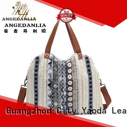 ANGEDANLIA Brand large canvas bag design pu supplier