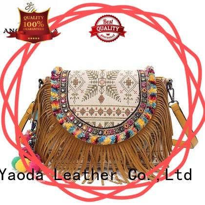 ANGEDANLIA linen bohemian style bags supplier for lady