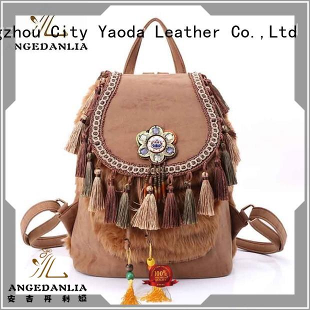 colorful boho bags tassel Large capacity for lady