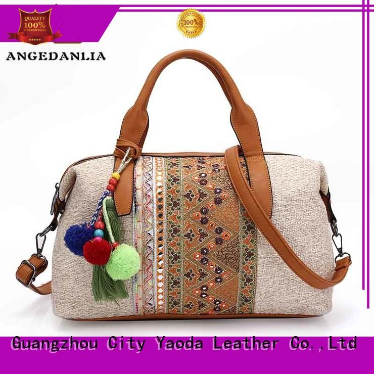 ANGEDANLIA Brand ethnic classical beach bohemian tote bag