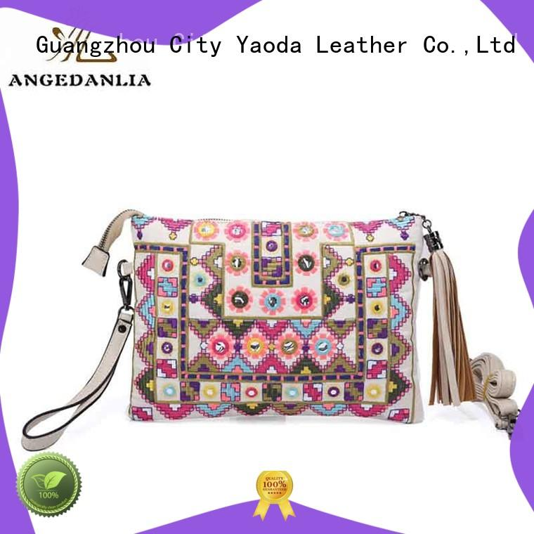 ANGEDANLIA handcraft boho leather bag Large capacity for travel