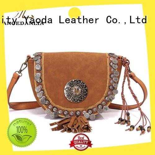 handcraft boho shoulder bag linen supplier for lady