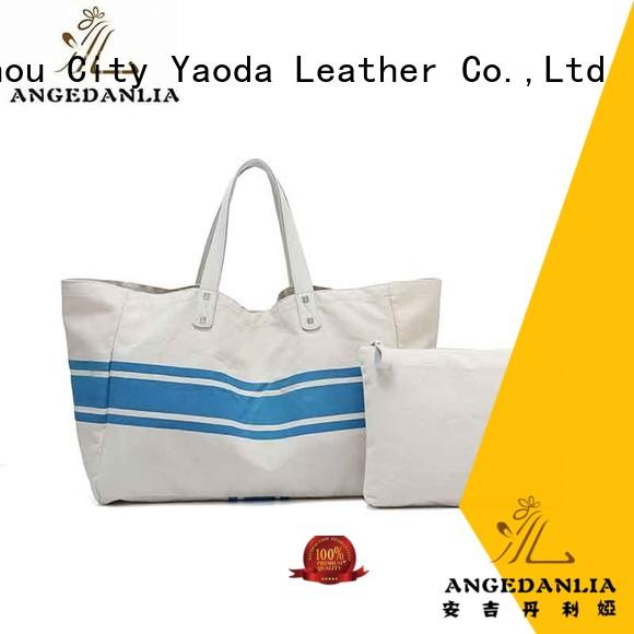 ANGEDANLIA rky0742 canvas drawstring bags with zipper for shopping