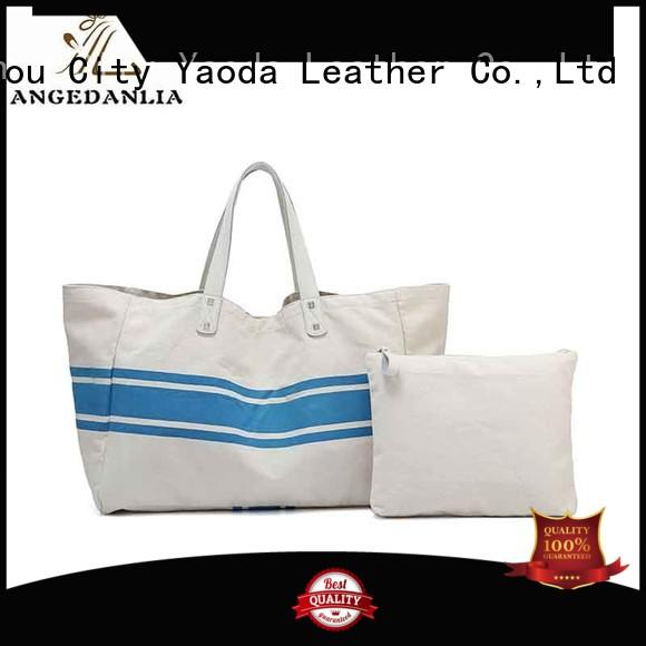 ANGEDANLIA Brand genuine zipper utility canvas tote bags