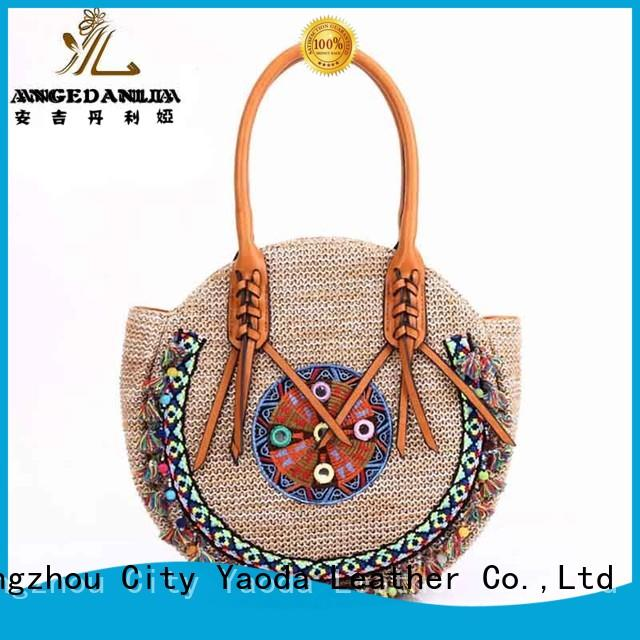 ANGEDANLIA colorful boho tote bags wholesale for lady