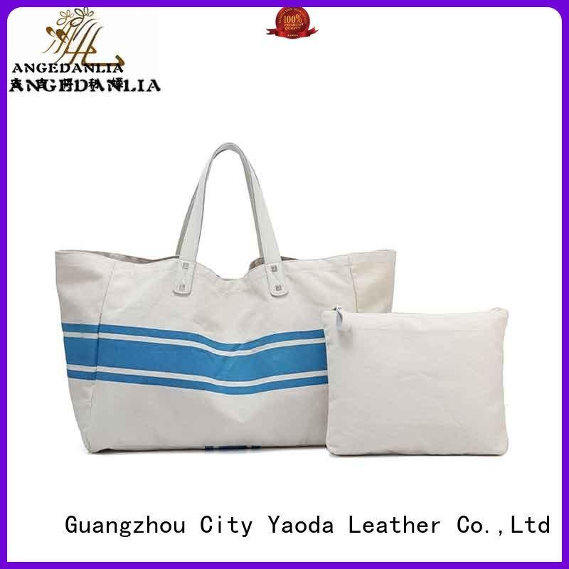 canvas bag design tote crossbody pu Warranty ANGEDANLIA