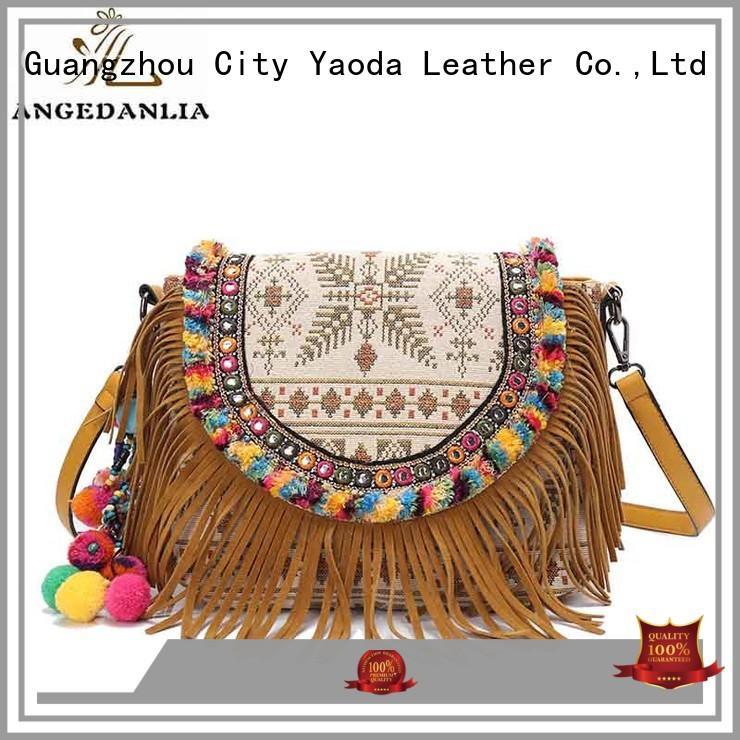 Classical design ladies boho ethnic canvas shoulder bag