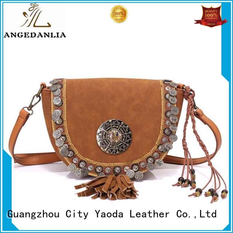 Ethnic Laser Technic Beaded Embellished PU Women Shoulder Bags