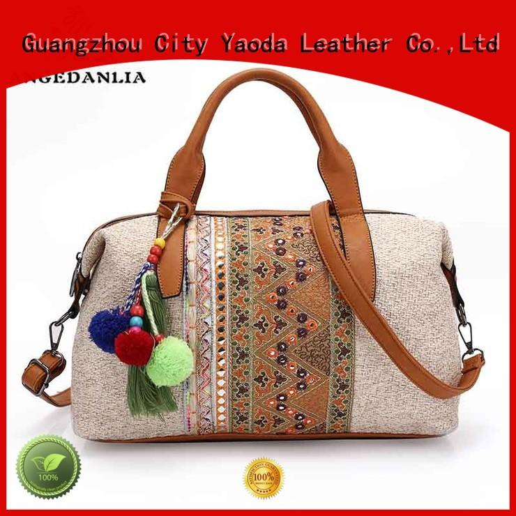 ANGEDANLIA fabric bohemian leather purse Large capacity for women