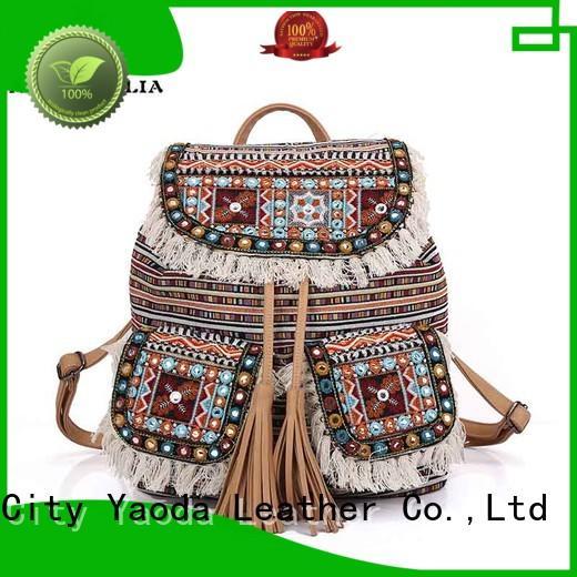 ANGEDANLIA canvas boho crossbody bag Large capacity for lady
