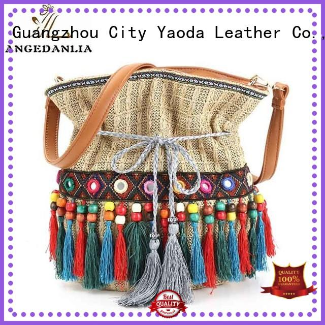 ANGEDANLIA technic boho fringe bag Large capacity for women