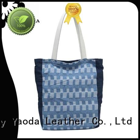 stitching women's canvas tote Chinese for travel ANGEDANLIA