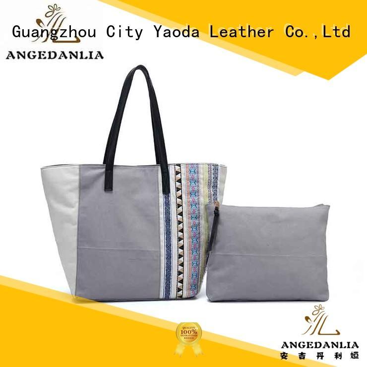 ANGEDANLIA Brand handle canvas bag design lady supplier