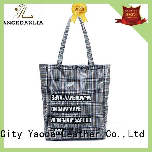 canvas leather tote bag rky0742 for daily life ANGEDANLIA