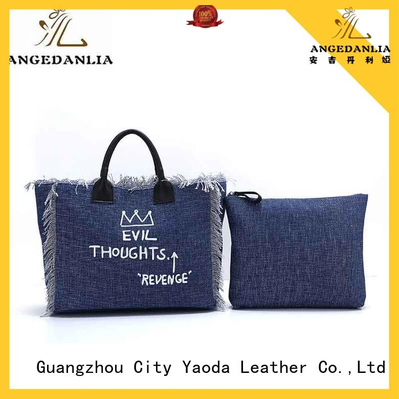 ANGEDANLIA customized canvas beach bag online for travel