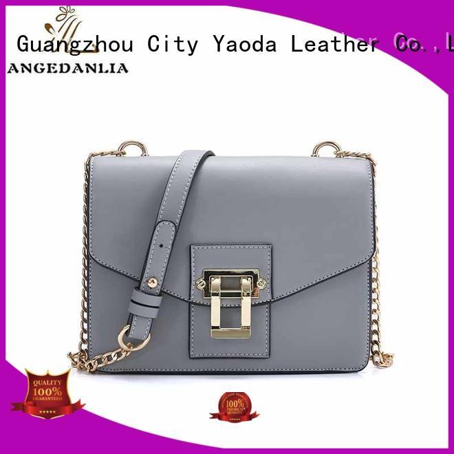 ANGEDANLIA chain pu leather handbags on sale for school