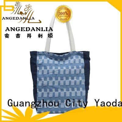 zip simple ANGEDANLIA Brand canvas bag design