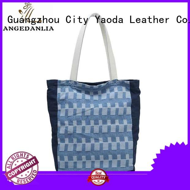 ANGEDANLIA pu canvas tote on sale for daily life