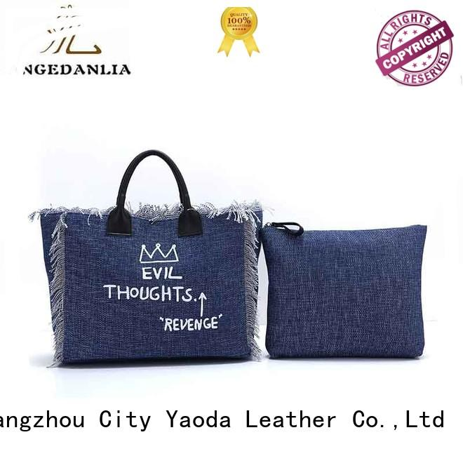 ANGEDANLIA unique personalised canvas bags tote for travel