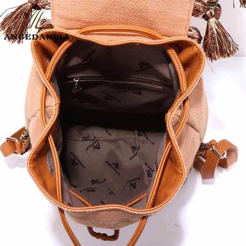 Bohemian Backpack Linen Bags Wholesale Vintage Style Shoulder Bag For Travel