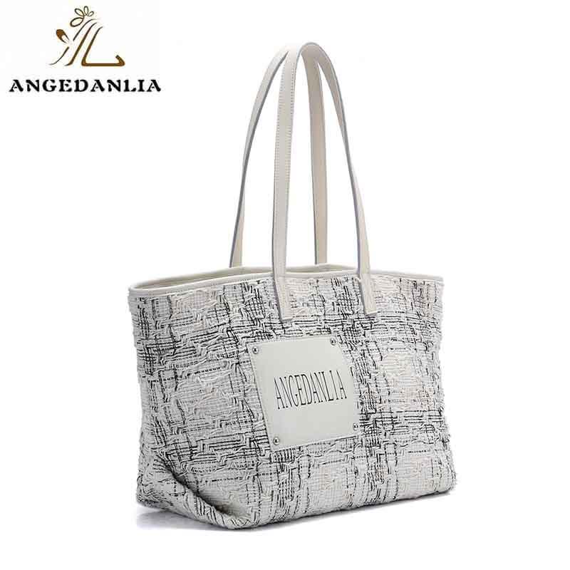Fashion leisure custom genuine leather women travel canvas shoulder handbag
