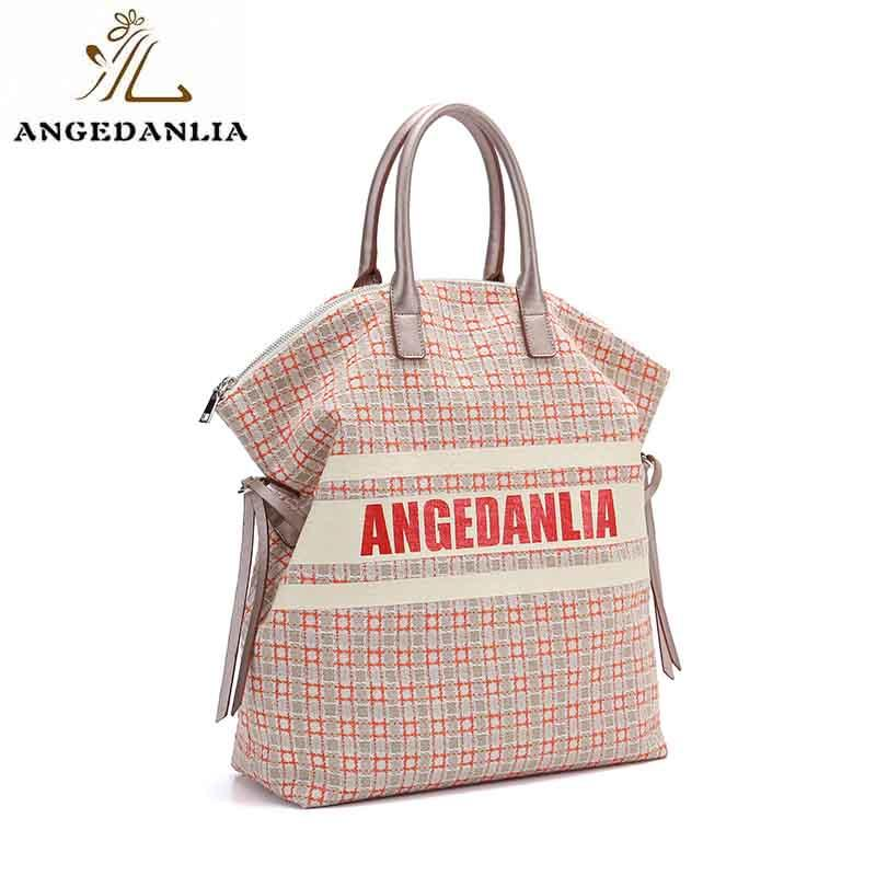 canvas bag design casual designer ANGEDANLIA Brand canvas tote bags