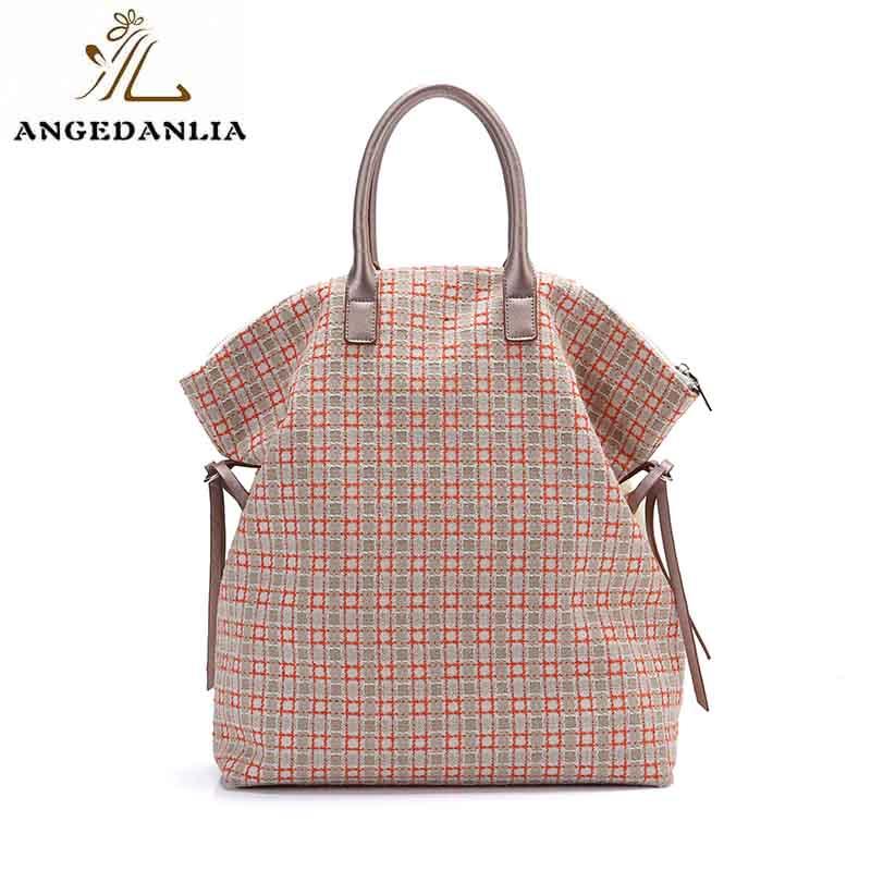 handbags canvas bag with zipper for shopping ANGEDANLIA-7
