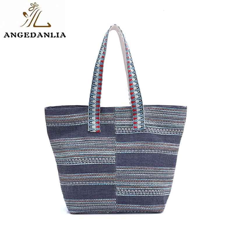 ANGEDANLIA cross personalised canvas bags with zipper for lady-6