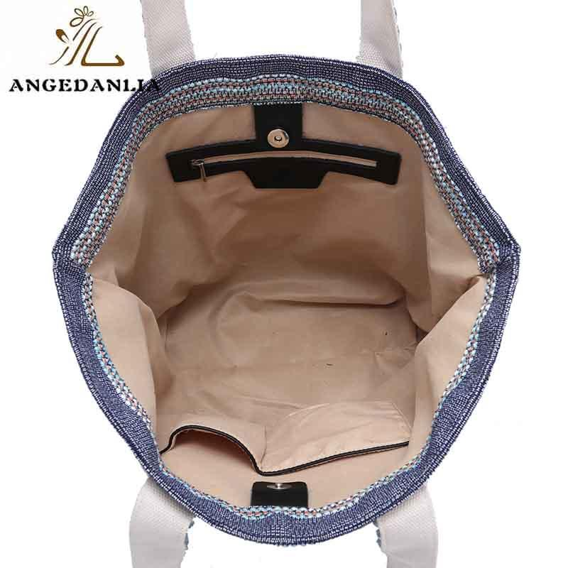 ANGEDANLIA cross personalised canvas bags with zipper for lady