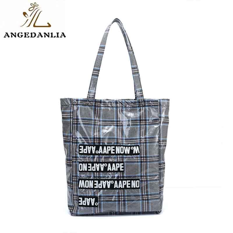 Custom natural cotton tote bag fashion large size zip tote bag