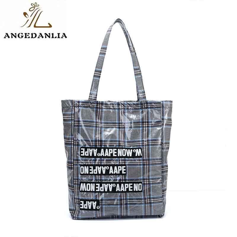 Custom natural cotton tote bag fashion large size zip tote bag